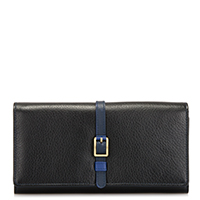Prague Large Flapover Purse -Black