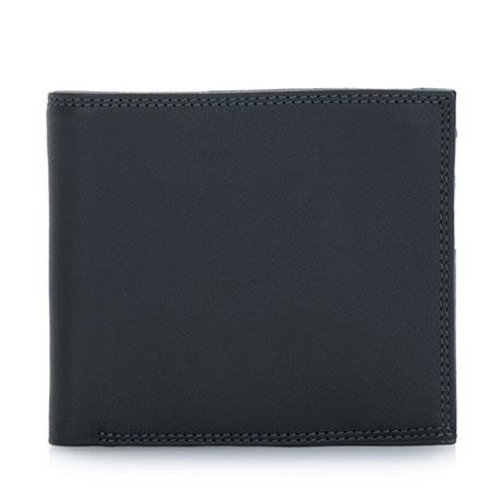 Classic Wallet w/Zip Section-Black Grey