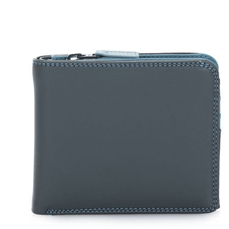 Wallet w/Middle Zip Section-Smokey Grey