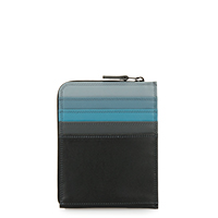 Zip Around CC Holder/Wallet-Black Grey
