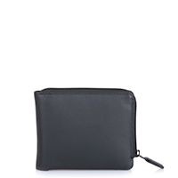 Zip Around Men's Wallet-Black
