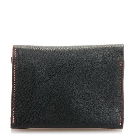 Lisbon Tri-fold Wallet-Black Berry