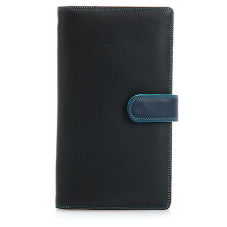 Large Tab Tri-fold Wallet-Black/Pace