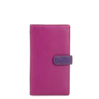 Large Tab Tri-fold Wallet-Sangria Multi