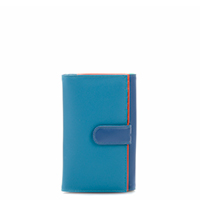 Large Tab Flapover Purse-Aqua