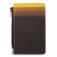 Credit Card Holder with Coin Purse-Mocha