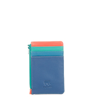 Credit Card Holder with Coin Purse-Aqua