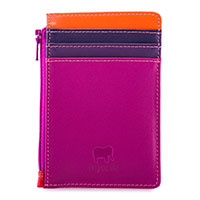 Credit Card Holder with Coin Purse-Sangria Multi