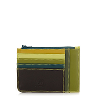 Slim Credit Card Holder with Coin Purse-Evergreen