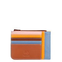 Slim Credit Card Holder with Coin Purse-Siena