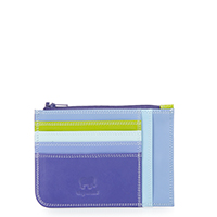 Slim Credit Card Holder with Coin Purse-Lavender