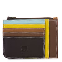 Slim Credit Card Holder with Coin Purse-Mocha