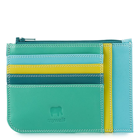 Slim Credit Card Holder with Coin Purse-Mint
