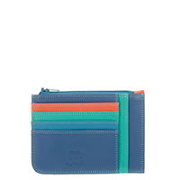 Slim Credit Card Holder with Coin Purse-Aqua
