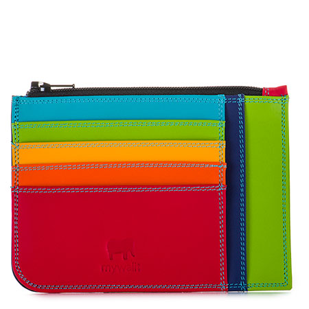 Slim Credit Card Holder with Coin Purse-Black/Pace