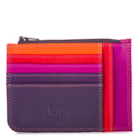 Slim Credit Card Holder with Coin Purse-Sangria Multi