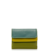 Small Double Flap Wallet-Evergreen