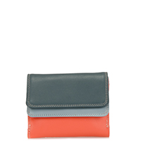 Small Double Flap Wallet-Urban Sky