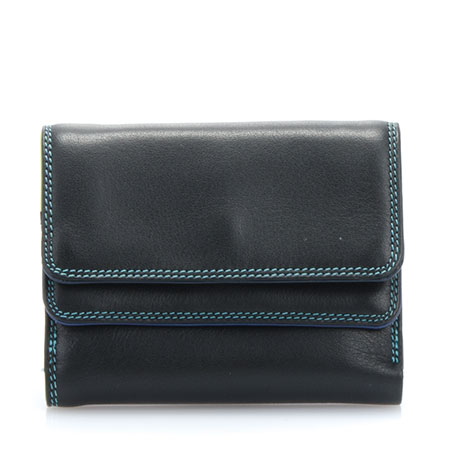 Small Double Flap Wallet-Black/Pace