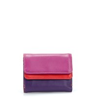 Small Double Flap Wallet-Sangria Multi