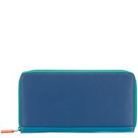 Zip Around Travel Wallet-Aqua