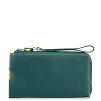 Zip Round Multi Purse with Wristlet-Evergreen