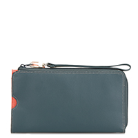 Zip Round Multi Purse with Wristlet-Urban Sky