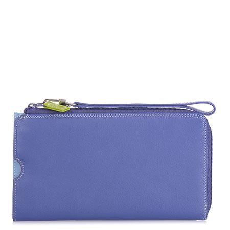 Zip Round Multi Purse with Wristlet-Lavender