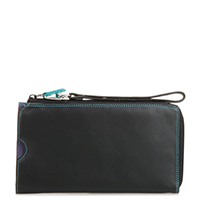 Zip Round Multi Purse with Wristlet-Black/Pace