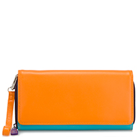 Large Flapover Zip Purse-Copacabana