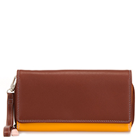 Large Flapover Zip Purse-Siena