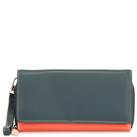 Large Flapover Zip Purse-Urban Sky