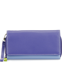 Large Flapover Zip Purse-Lavender