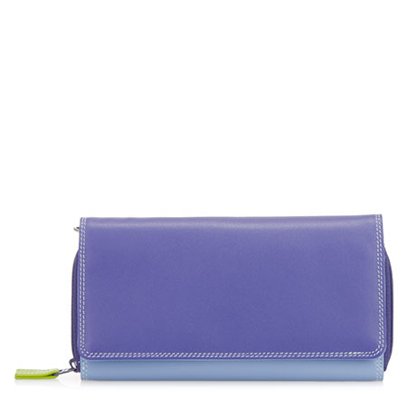 Large Flapover Zip Purse-Lavender