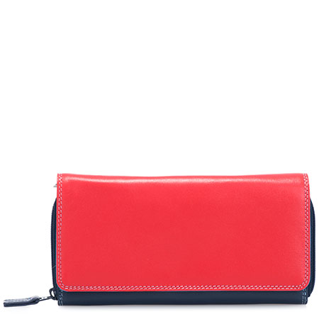 Large Flapover Zip Purse-Royal