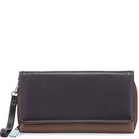 Large Flapover Zip Purse-Mocha