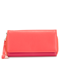 Large Flapover Zip Purse-Candy
