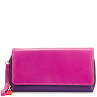 Large Flapover Zip Purse-Sangria Multi