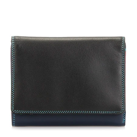 Medium Wallet w/Inner Leaf-Black/Pace