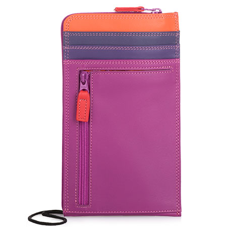 Neck Purse/Wallet-Sangria Multi