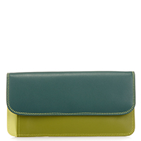Simple Flapover Purse/Wallet-Evergreen