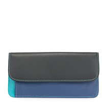 Simple Flapover Purse/Wallet-Black/Pace