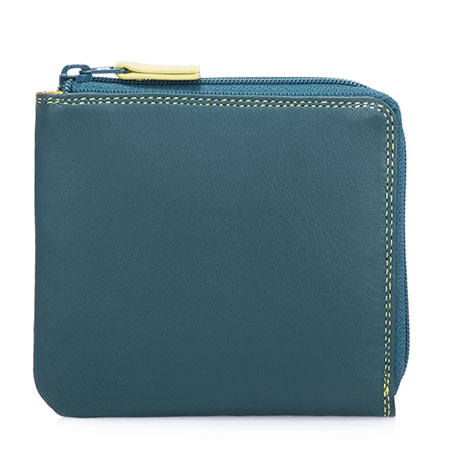Small Zip Around Wallet-Evergreen