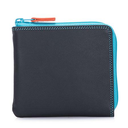 Small Zip Around Wallet-Black/Pace