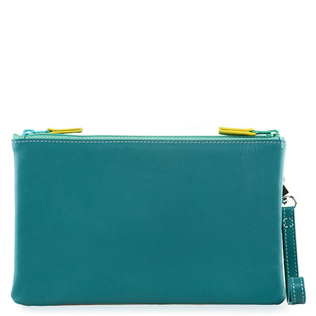 Small Double Zip Pouch-Mint