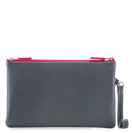 Small Double Zip Pouch-Storm