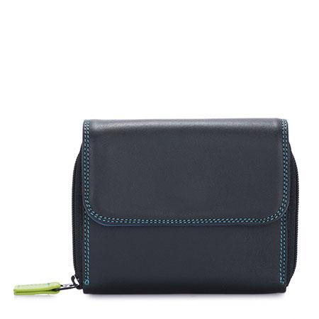 Small Zip Around Tri-fold-Black/Pace