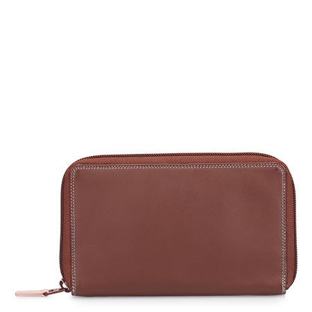 Zip Around Wallet w/Phone Pocket-Siena