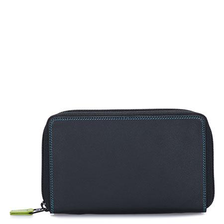 Zip Around Wallet w/Phone Pocket-Black/Pace