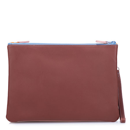 Medium Double Zip Pouch-Siena